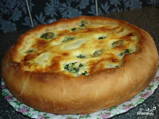 Пирог с семгой и брокколи - фото шаг 5