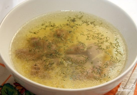 Суп из куриных сердечек