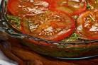 Салат из помидоров с песто