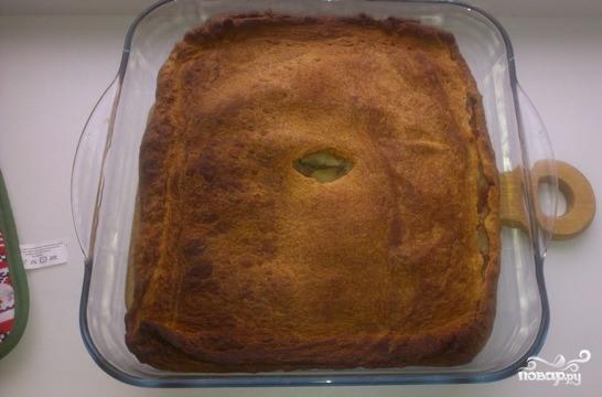 Слоеный пирог со свининой и картошкой - фото шаг 5