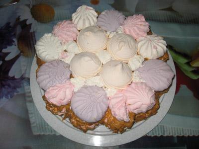 Торт без выпечки зефирный - фото шаг 8