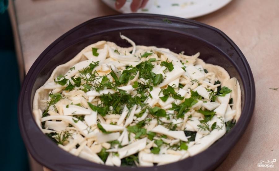 Пирог с сыром сулугуни - фото шаг 4