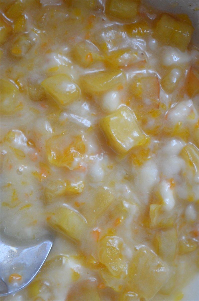 Штрудель с заварным кремом  и фруктами - фото шаг 3