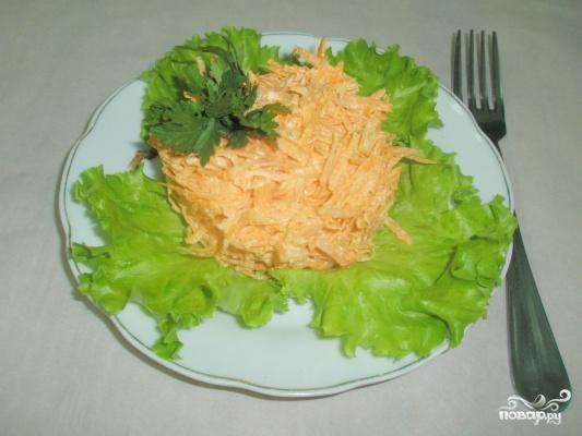 Рецепт Салат из моркови с чесноком