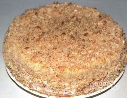 рецепт бананового торта с печеньем