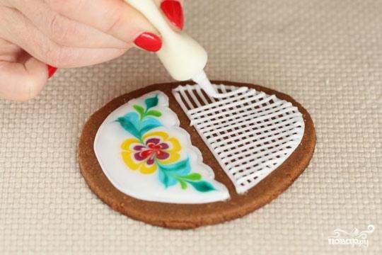 Пасхальные печенья с глазурью - фото шаг 5