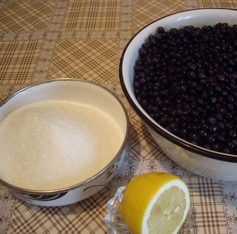 Рецепт Быстрое варенье из черники