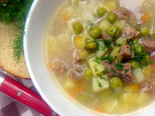 Рецепт Суп из консервированного горошка