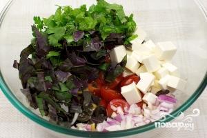 Салат с оливками - фото шаг 7