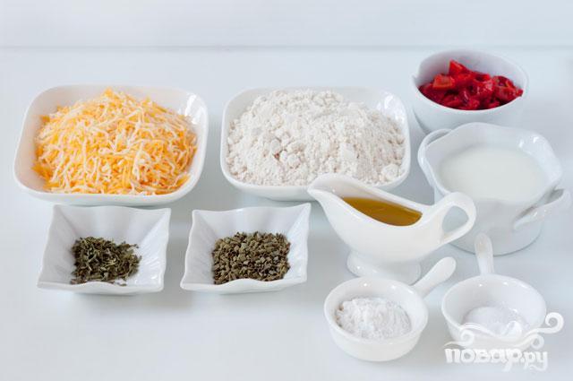 Маффины с болгарским перцем и сыром Чеддер - фото шаг 1