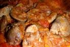 Жаркое из куриной печени