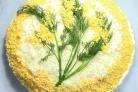 Мимоза с плавленым сыром