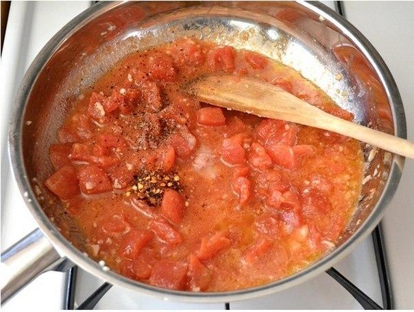 Паста с креветками и томатами - фото шаг 4