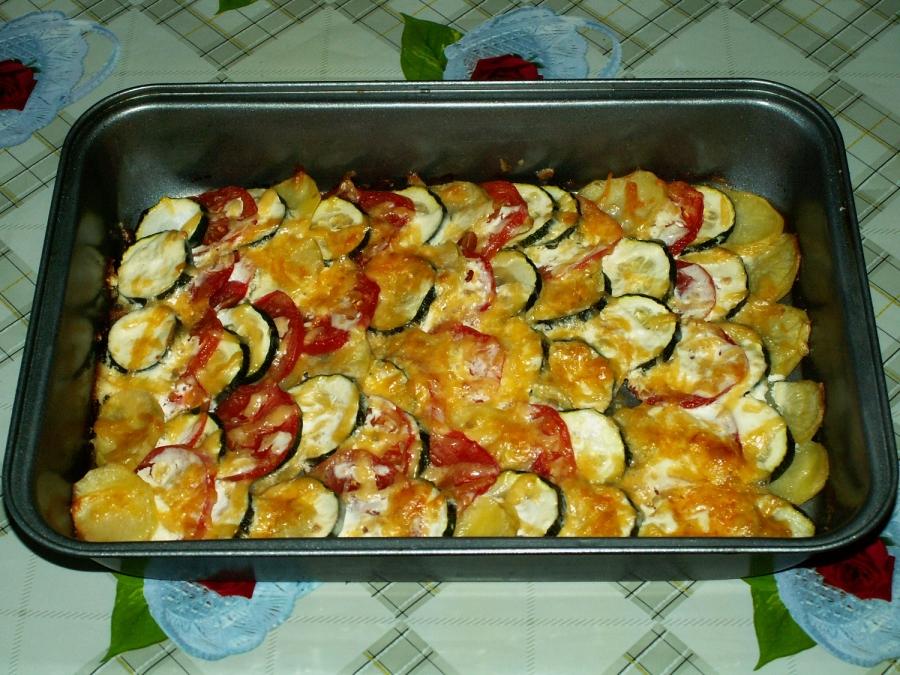 Кабачки с картошкой и помидорами - фото шаг 11