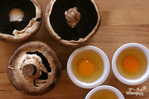 Рагу из цуккини с запеченными яйцами в грибах - фото шаг 2