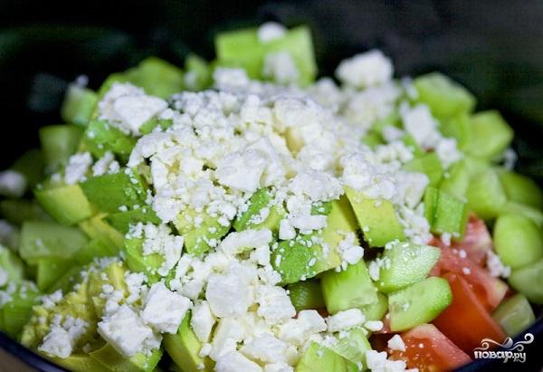 Овощной салат с авокадо - фото шаг 5