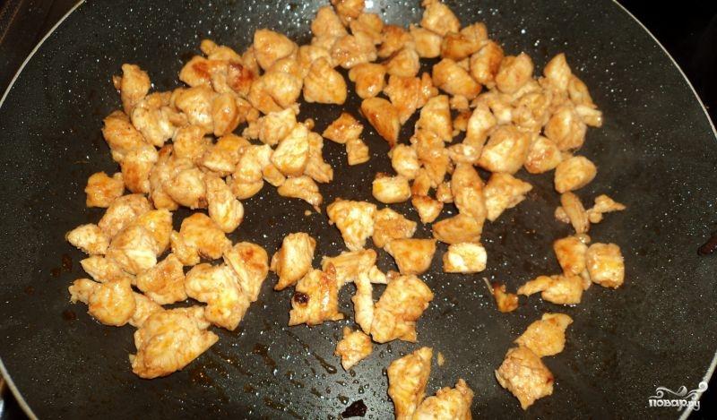 Мясной салат с болгарским перцем - фото шаг 3
