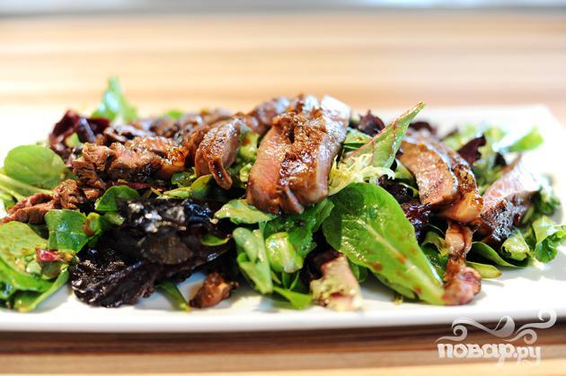 Салат с говядиной и имбирем - фото шаг 4