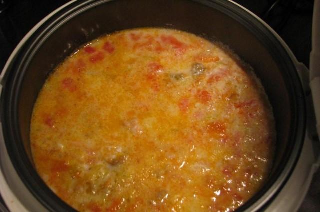 Суп из семги в мультиварке - фото шаг 4