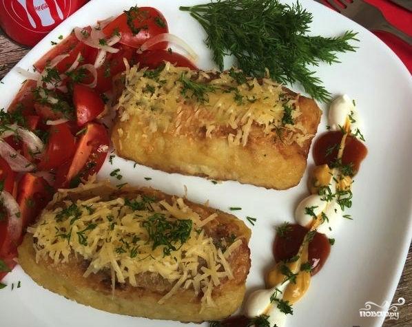 Картофельные трубочки с мясом