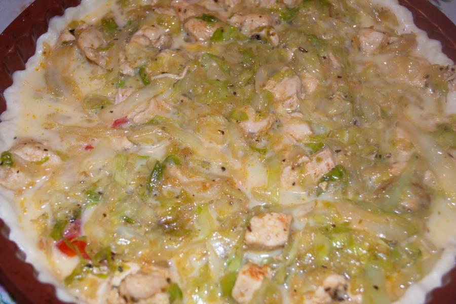 Пирог с курицей и капустой - фото шаг 6