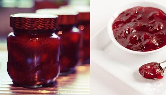 Рецепт Черноплодная рябина протертая с сахаром