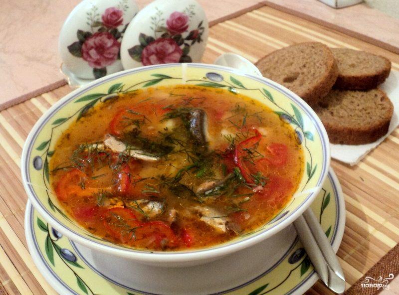 Как варить суп из кильки в томате