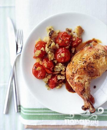 Рецепт Жареная курица с лимонным соусом