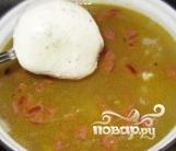 Сырный суп с копченостями - фото шаг 10