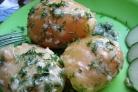Вареная картошка с чесноком