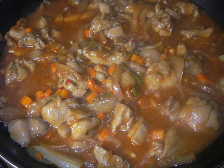 Курица в остром соусе по-китайски - фото шаг 6