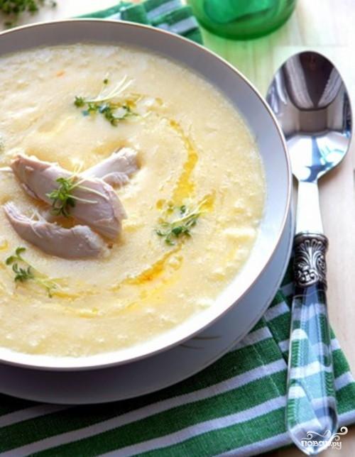 Рецепт Куриный суп с миндалем