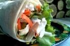 Салат в лаваше с курицей