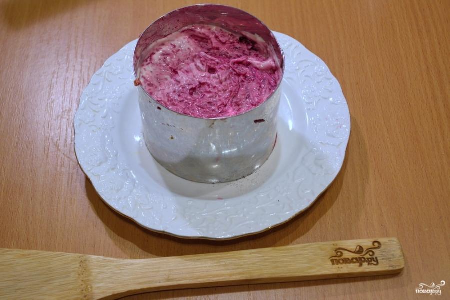Селедка под шубой порционная - фото шаг 5