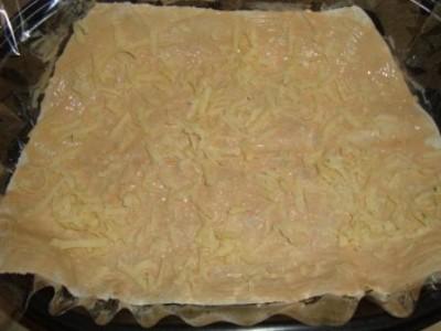 Пирог из лаваша с рыбой - фото шаг 4