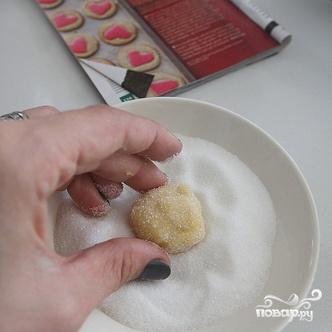 Печенье-валентинки из кукурузной муки - фото шаг 4