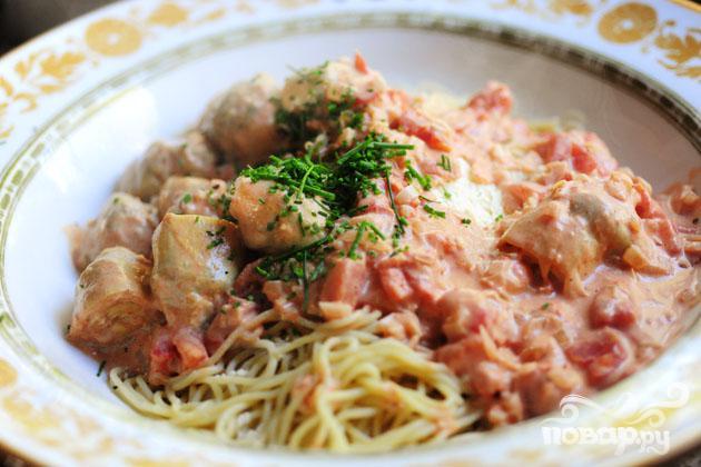 Спагетти с овощами - фото шаг 12