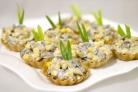 Салат с грибами в тарталетках