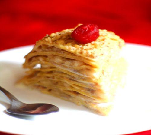 Блинный торт рецепт с бананами