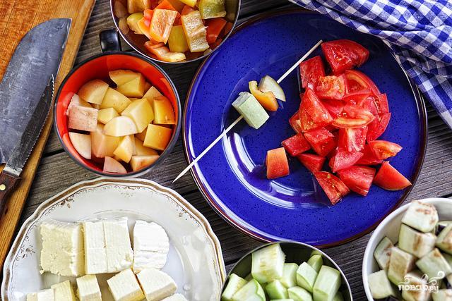 Овощной шашлык в кляре - фото шаг 5