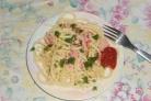 Cпагетти с колбасой