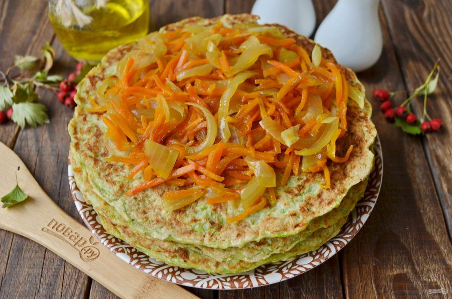 Кабачковый торт рецепт с морковью и луком