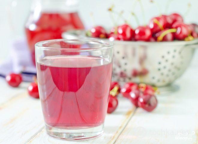 Рецепт Компот из вишни без закатки