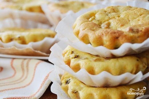 Рецепт Творожно-банановые кексы с киви