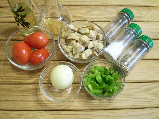 Рецепт Салат из баклажанов и болгарского перца