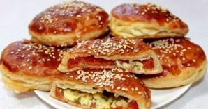Пирожки с сыром и зеленью - фото шаг 5