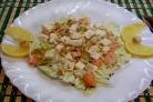 Салат из слабосоленой красной рыбы