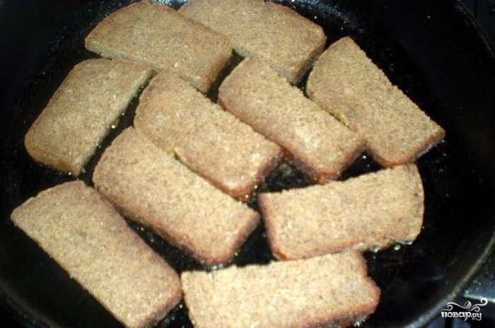 Рецепт Гренки с шпротами