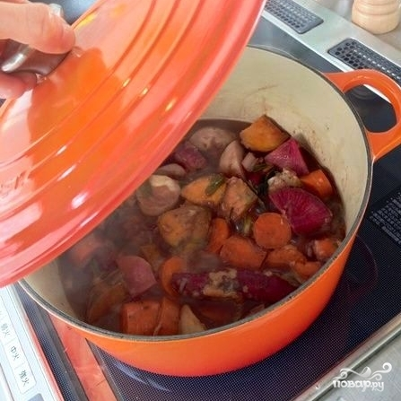 Тушеные овощи с красным вином и мускатным орехом - фото шаг 8