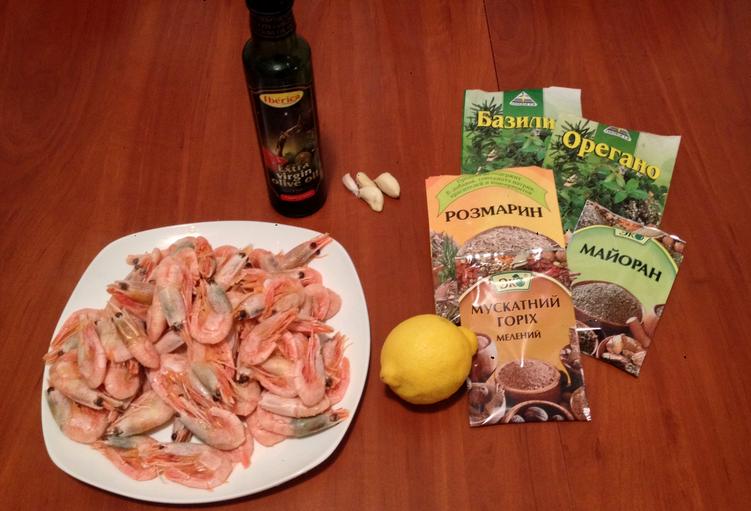 Рецепт Жареные креветки с лимоном